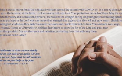 Prayer for the healthcare professionals fighting to save lives of COVID-19