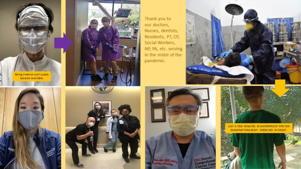 PPE of our healthcare professionals